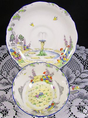 Star Paragon Old World Garden Floral Hp Tea Cup And Saucer