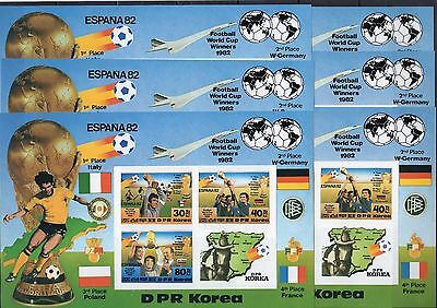 Korea- 1982 - Football- complete sheet - MNH** imperf.- please,see 2 scan!