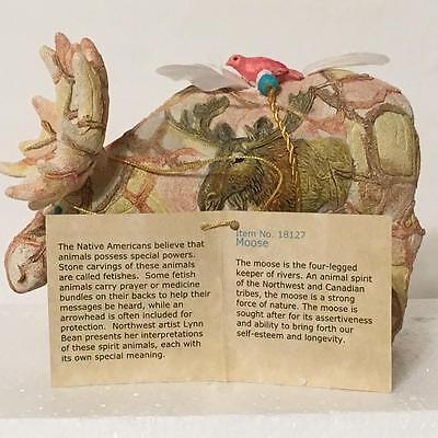 Spirit Visions by Lynn Bean 18127 MOOSE Stone Resin Figurine NIB with Story Card