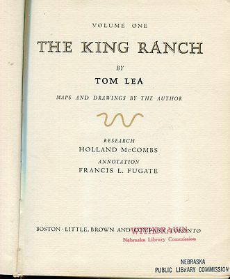 """The King Ranch"" 2-volume Set  By Tom Lea...Library copies no slipcase"