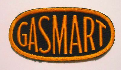 "Gasmart Gas Patch Embroidered  Oil 3-7/8"" Vintage"