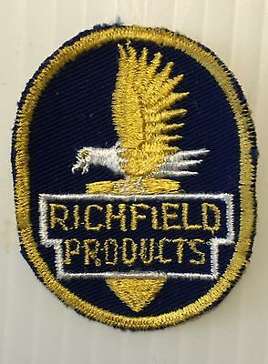 Richfield Gasoline Patch Embroidered Oil 2-7/8 inches Original Vintage
