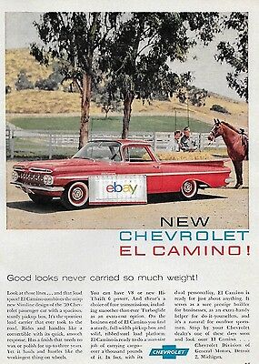 Chevrolet 1959 New Chevrolet El Camino Good Looks Never Carries So Much Ad
