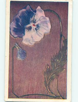Divided-Back BEAUTIFUL LARGE PURPLE PANSY FLOWER o9013
