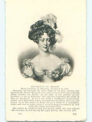 Unused Divided-Back SICILIY - ITALY ROYALTY - DUCHESSE DE BERRY r2255