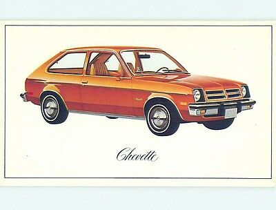 Unused 1976 car dealer ad postcard CHEVROLET CHEVETTE o8233-12