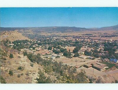 Pre-1980 AERIAL VIEW OF TOWN Raton New Mexico NM n3105