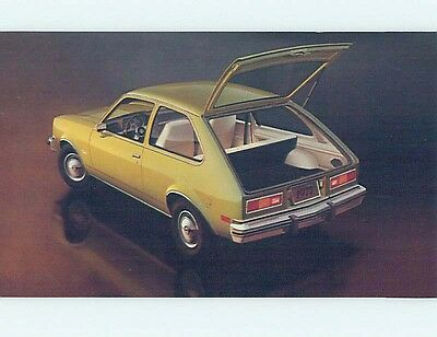Unused 1977 car dealer ad postcard CHEVROLET CHEVETTE HATCHBACK COUPE o8165