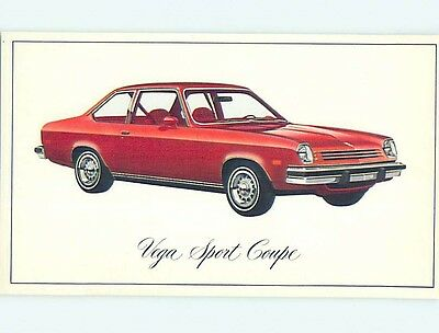 Unused 1976 car dealer ad postcard CHEVROLET VEGA SPORT COUPE o8155