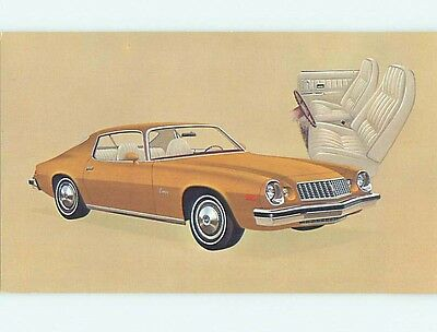 Unused 1974 car dealer ad postcard CHEVROLET CAMARO SPORT COUPE o8098