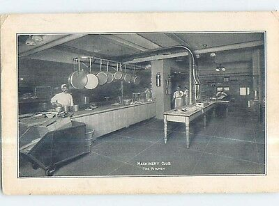 Unused W-Border MACHINERY CLUB RESTAURANT KITCHEN SCENE p7498