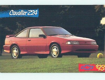 Unused 1993 car dealer ad postcard CHEVROLET - CHEVY CAVALIER Z24 CAR o8517-23