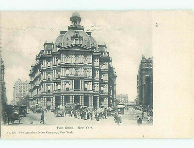 Pre-1907 very early view - POST OFFICE New York City NY n6930