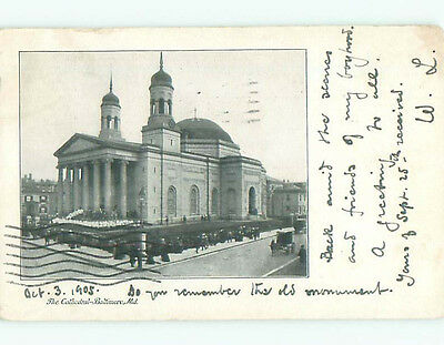 1905 very early view - CATHEDRAL BUILDING Baltimore Maryland MD n6657