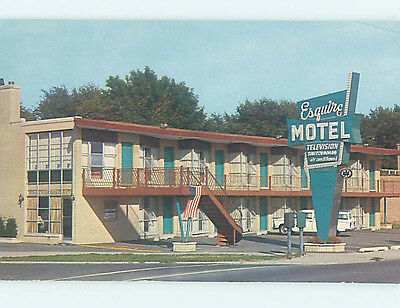 Unused Pre-1980 ESQUIRE MOTEL Chicago Illinois IL n8553