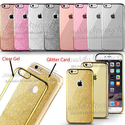 Luxury Bling Gliter Shockproof Soft Silicone Case Cover For iPhone models