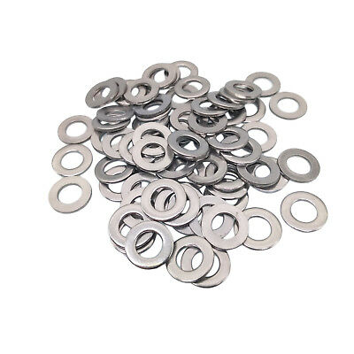 100 pcs M6 6mm 304 Stainless Steel Metric Flat Washer Washers New