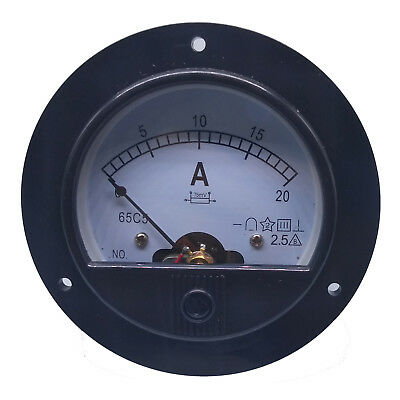 DC 0 ~ 20A Round Analog AMP Current Pointer Needle Panel Meter Ammeter & Shunt
