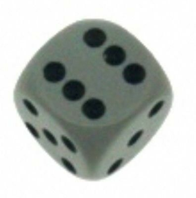 d6 Chessex 16mm: Opaque Grey /black #25610 Dice Die Dice Grey black 1d6