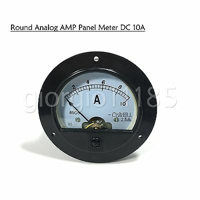 New DC 0 ~ 10A Round Analog AMP Current Pointer Needle Panel Meter Ammeter