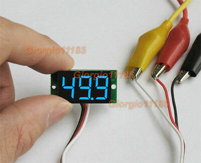 US Stock Ultra small Blue LED Volt Voltage Meter Voltmeter DC 0-99.9V 100V