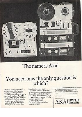 Akai Pullin Perivale X100D & M8 Which Hi Fi Tape Recorders? 1966 Vintage Advert
