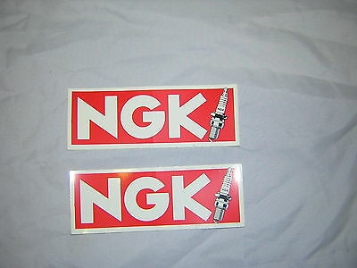 "NGK Stickers/Decals x2. 2""x6"". New"