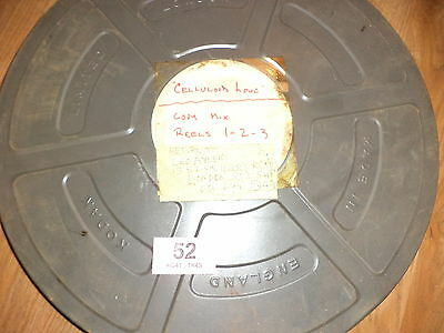 Vintage Film Reel In Tin '' Celluloid Love ''