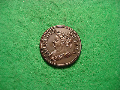 Great Britain - Farthing 1714 UK - Queen Anna PATTERN- PLEASE READ DESCRIPTION