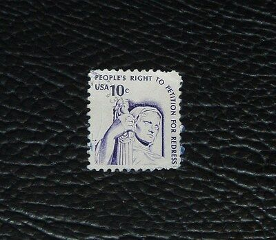 USA POSTAGE STAMP 10c 'PEOPLE'S RIGHT TO PETITION FOR REDRESS' c1977