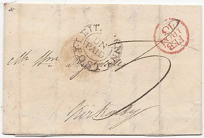 * 1804 Leith Penny Post Un Paid Circ Postmark James Smith Letter To Kirkcaldy