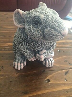 Rat Memorial Statue Grave Lawn Garden Monument Panted Mouse Art Decor