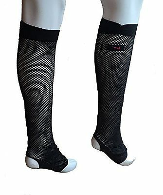 Womens Ladies NIKE Street Dance Aerobics LEGWARMERS LEG WARMERS Black Fishnets