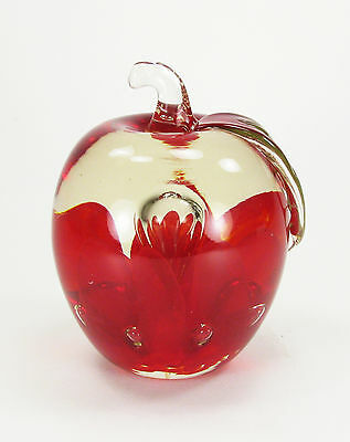 St. Clair Red Apple Paperweight with original sticker