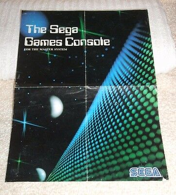 Sega Master System ** Poster With Most Games & Peripherals For Master System **