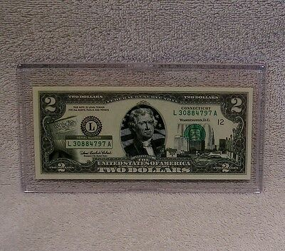 Connecticut $2 Two Dollar Bill - Colorized State Landmark Uncirculated Authentic