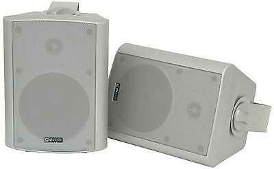 """Qtx Sound Active Speakers 5"""" 60W Silver Pa Background Amplified Powered 170.164"""
