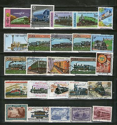 "50 Diff. Large Commemo. Stamps On ""railway Locomotives"", Fu, # 42"