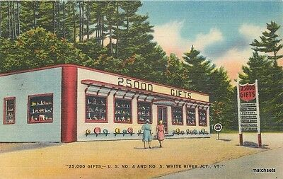 1940s 25,000 Gifts Shoppe White River Junction Vermont linen Colorpicture 1186