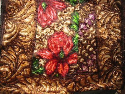 """Floral Horsehair Sleigh Blanket Mohair Stroock Antique 54""""x66"""" Flowers Rare Vygd"""