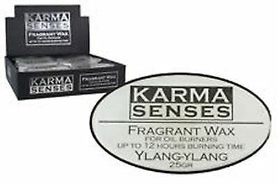 KARMA SENSES FRAGRANT WAX YLANG YLANG - 12 HR BURNING TIME BULK LOT RRP $3.95 ea