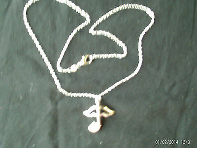 "Beautiful S925 Silver Necklace Anchor Pendent With White Stone 18"" Chain GiftBox"
