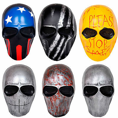 New Full Face Protection Terror Skull Mask Airsoft CS Paintball 6 Colors #0411