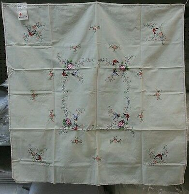Embroidery Tablecloth (1) Size 36 x 36 With (4) Napkins