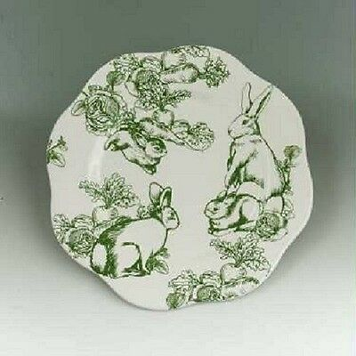 Andre by Sadek by J Willfred Bunny Toile Dinner Plates-60786