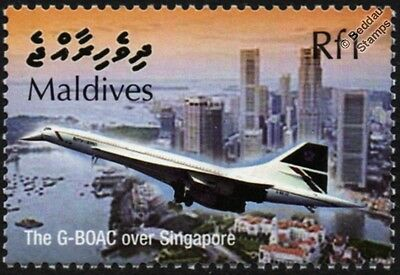 British Airways CONCORDE G-BOAC (Singapore) Supersonic Airliner Aircraft Stamp