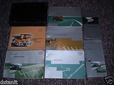 2001 Audi Allroad Complete Owners Manual Books Guide Case All Models