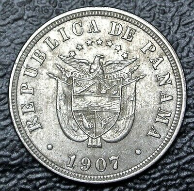 Coins 1907 Panama Medio Centesimo Coin Km#6 Mint Lustre Gvf Products Are Sold Without Limitations Central America