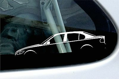 2x car silhouette stickers - for BMW e90 3-series saloon 320i, 330i, 330d