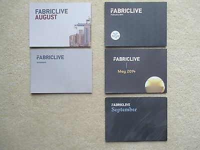 Fabric LIVE - club rave flyer / flyers collection - MINT set for 2014